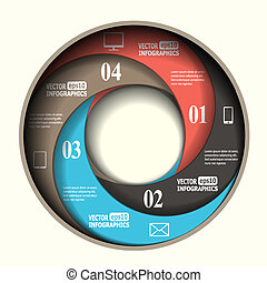 Abstract paper infographics in a circle shape. Vector eps10...