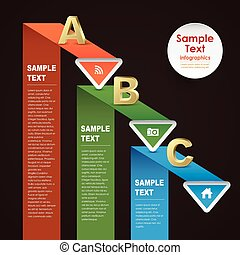 abstract paper infographics - vector abstract 3d paper...