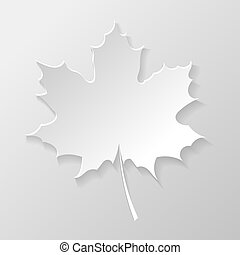 Abstract paper maple leaf