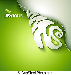 Abstract paper plant