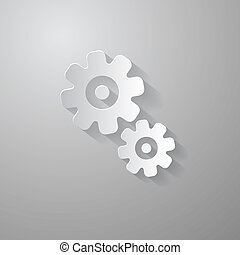 Abstract Paper Vector Cogs - Gears