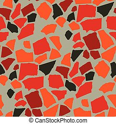 Abstract papercut seamless pattern inspired by nature stone...