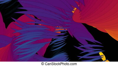 Abstract Particle Animation of psychedelic Pattern