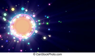 abstract particle circles ring motion background