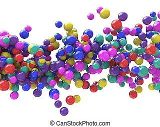 Abstract Particles Background - Wave of Colored balls