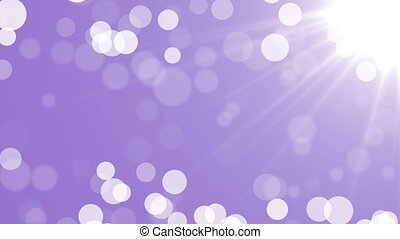 Abstract Particles white and silver bokeh Background