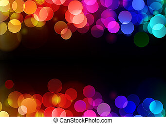 abstract party Background - illustration of blurred neon...