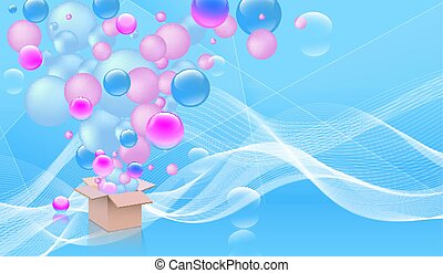 Abstract party background with box