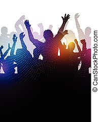 abstract party crowd 0208