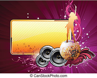 abstract party frame