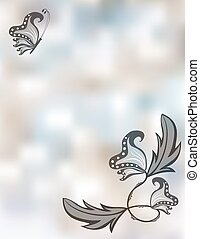 Abstract pastel background with butterflies