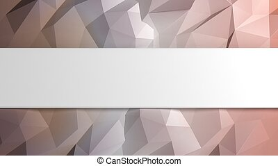 Abstract pastel low poly background with copy-space