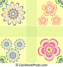 Abstract pastel seamless floral pattern ( vector)