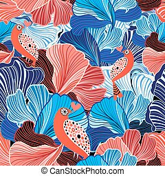 abstract pattern and bird lovers