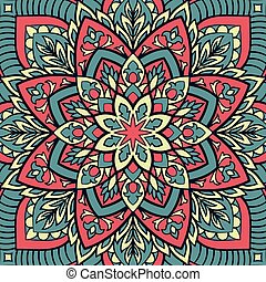 Abstract pattern for shawl. - Oriental colorful pattern of...