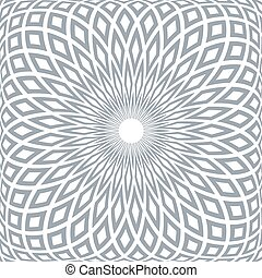 abstract, pattern., geometrisch, radiaal