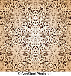 Abstract pattern in brown and beige