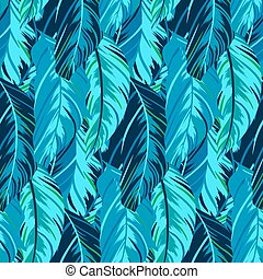 Abstract pattern inspired by tropical birds - Vector pattern...