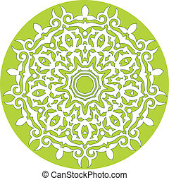 abstract pattern - kaleidoscopic ornamental pattern