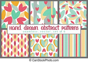 Abstract pattern leaf summer set