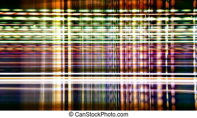 abstract pattern made from time-lapse traffic and street scene shot at night