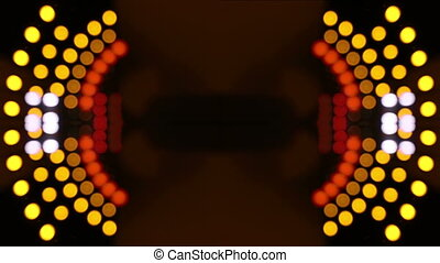 abstract pattern made from timelapse shot in a long road tunnel