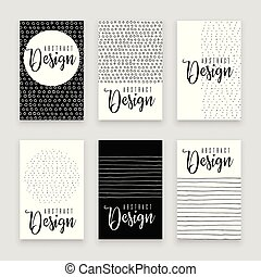 Abstract pattern, memphis design concept set