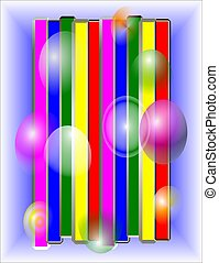 abstract pattern of bars and bubble