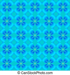 Abstract pattern of blue flowers.