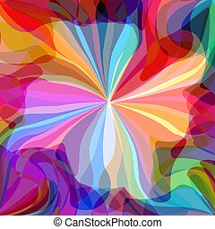 Abstract pattern of colorful jellyfish
