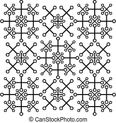 Abstract pattern of cross and circles