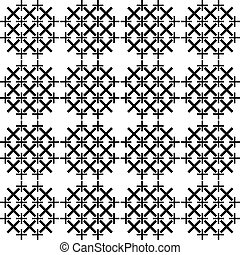 Abstract pattern of cross