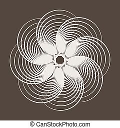 Abstract pattern of intersecting circles.