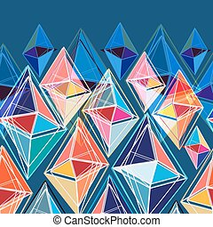 abstract pattern of polygons