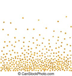 Abstract pattern of random falling golden dots. - Abstract...