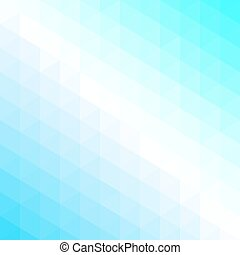 Abstract pattern of triangles in cool shades.