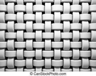 Abstract pattern of white weaving pieces illustration