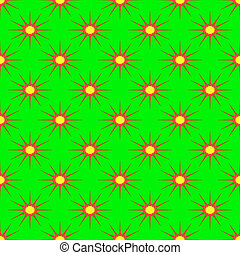 Abstract pattern on the neon green background