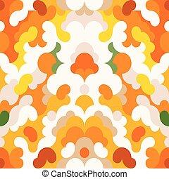 Abstract pattern orange background