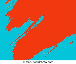 abstract pattern orange spot on blue background
