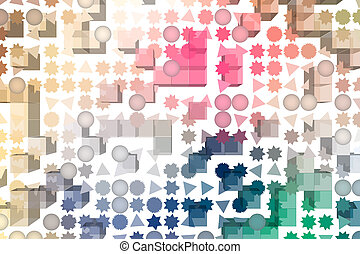 Abstract pattern shape, for graphic design, artistic. Collection, mosaic, geometric & background.