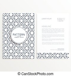 abstract pattern shape letterhead template