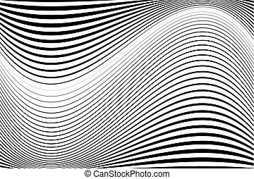 Abstract pattern. Texture with wavy, billowy lines. Optical...