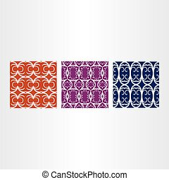abstract  pattern vector background set