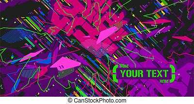 Abstract Pattern Vector Illustration Geometric Background Art