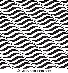 Vector illustration of seamless abstract black-and-white pattern