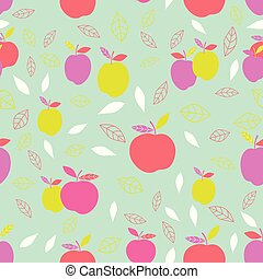 abstract pattern with apple