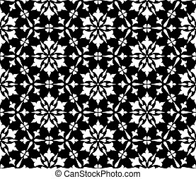 Abstract patterns seamless Stencil doodle sketch black and white