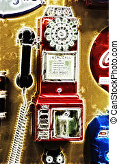 Abstract Pay Phone