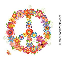 Abstract peace flower symbol